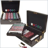 Trademark 500 14g Tri Color Ace/King Suited Chips with Mahogany Case