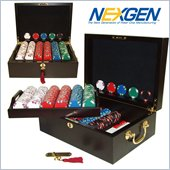 Trademark 500 Lucky Bee EDGESPOT NEXGEN Chips with Mahogany Case