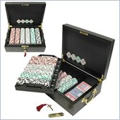Trademark 500 Chip High Roller Set With Mahogany Case