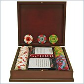 Trademark 100 PaulsonR Tophat & Cane Clay Poker Chips With Wooden Case