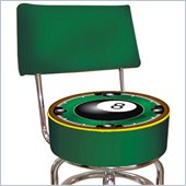 Trademark Retro Rack'em 8-Ball Padded Bar Stool with Back