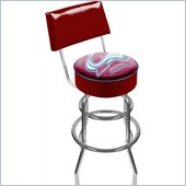 Trademark Retro NHL Colorado Avalanche Padded Bar Stool with Back
