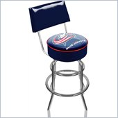 Trademark Retro NHL Columbus Blue Jackets Padded Bar Stool with Back