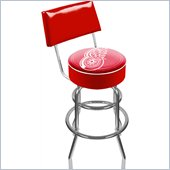 Trademark Retro NHL Detroit Redwings Padded Bar Stool with Back