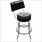 Trademark Retro NHL Los Angeles Kings Padded Bar Stool with Back