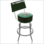 Trademark Retro NHL Minnesota Wild Padded Bar Stool with Back