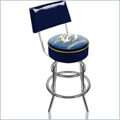 Trademark Retro NHL Nashville Predators Padded Bar Stool with Back