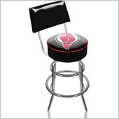 Trademark Retro NHL New Jersey Devils Padded Bar Stool with Back