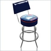 Trademark Retro NHL New York Rangers Padded Bar Stool with Back