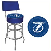 Trademark Retro NHL Tampa Bay Lightning Padded Bar Stool with Back