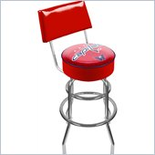Trademark Retro NHL Washington Capitals Padded Bar Stool with Back