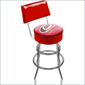 Trademark Retro NHL Carolina Hurricanes Padded Bar Stool with Back