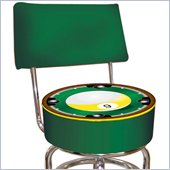 Trademark Retro Nine Ball Padded Bar Stool with Back
