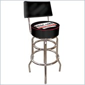 Trademark Retro Four Aces Padded Bar Stool with Back