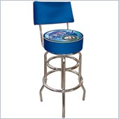 Trademark Retro United States Navy Padded Bar Stool with Back