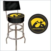 Trademark Retro University of Iowa Padded Bar Stool with Back