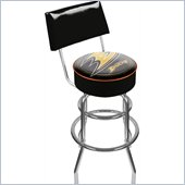 Trademark Retro NHL Anaheim Ducks Padded Bar Stool with Back