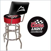 Trademark Retro Coors Light Racing Padded Bar Stool with Back