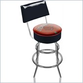 Trademark Retro Brown University Padded Bar Stool with Back