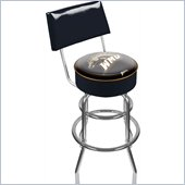 Trademark Retro Western Michigan University Padded Bar Stool with Back