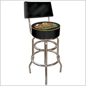 Trademark Retro Texas Holdem Padded Bar Stool with Back