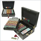 Trademark 500 Chip Tri-Color Suit Set With Mahogany Case