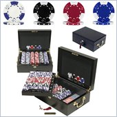 Trademark Traemark 500 pc Lucky Crown 11.5g Poker Chip Set With Mahogany Case