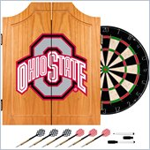 Trademark Ohio State University Dart Cabinet Includes Darts and Board