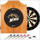 Trademark Western Michigan U Dart Cabinet Includes Darts and Board