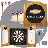Trademark Chevrolet Dart Cabinet Includes Darts and Board