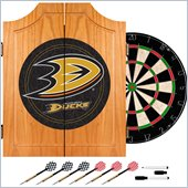 Trademark NHL Anaheim Ducks Dart Cabinet includes Darts and Board