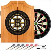 Trademark NHL Boston Bruins Dart Cabinet includes Darts and Board