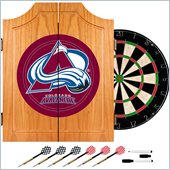 Trademark NHL Colorado Avalanche Dart Cabinet includes Darts and Board