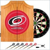 Trademark NHL Carolina Hurricanes Dart Cabinet includes Darts and Board