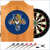 Trademark NHL Florida Panthers Dart Cabinet includes Darts and Board
