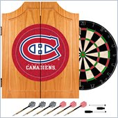 Trademark NHL Montreal Canadians Dart Cabinet includes Darts and Board