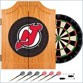 Trademark NHL New Jersey Devils Dart Cabinet includes Darts and Board
