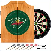 Trademark NHL Minnesota Wild Dart Cabinet includes Darts and Board