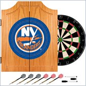Trademark NHL New York Islanders Dart Cabinet includes Darts and Board