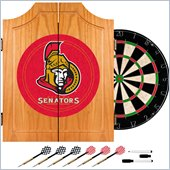 Trademark NHL Ottawa Senators Dart Cabinet includes Darts and Board