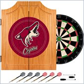 Trademark NHL Phoenix Coyotes Dart Cabinet includes Darts and Board