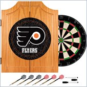 Trademark NHL Philadelphia Flyers Dart Cabinet includes Darts and Board