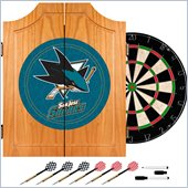 Trademark NHL San Jose Sharks Dart Cabinet includes Darts and Board