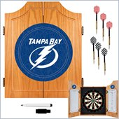 Trademark NHL Tampa Bay Lightning Dart Cabinet includes Darts and Board