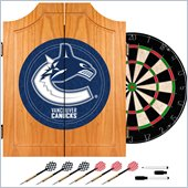 Trademark NHL Vancouver Canucks Dart Cabinet includes Darts and Board