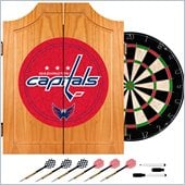 Trademark NHL Washington Capitals Dart Cabinet includes Darts and Board