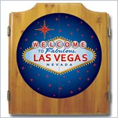 Trademark Las Vegas Dart Cabinet includes Darts and Board