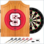 Trademark North Carolina State Dart Cabinet includes Darts and Board