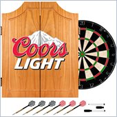 Trademark Coors Light Dart Cabinet Includes Darts and Board
