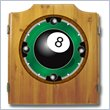 ADD TO YOUR SET: Trademark 8-Ball Dart Cabinet includes Darts and Board
